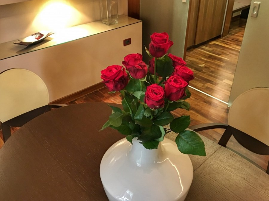 Roses in the Hotel Melia Coral Umag Presidential Suite
